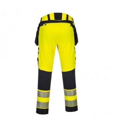 DX442 - Pantalon DX4 haute-Visibilité avec poches flottantes démontables
